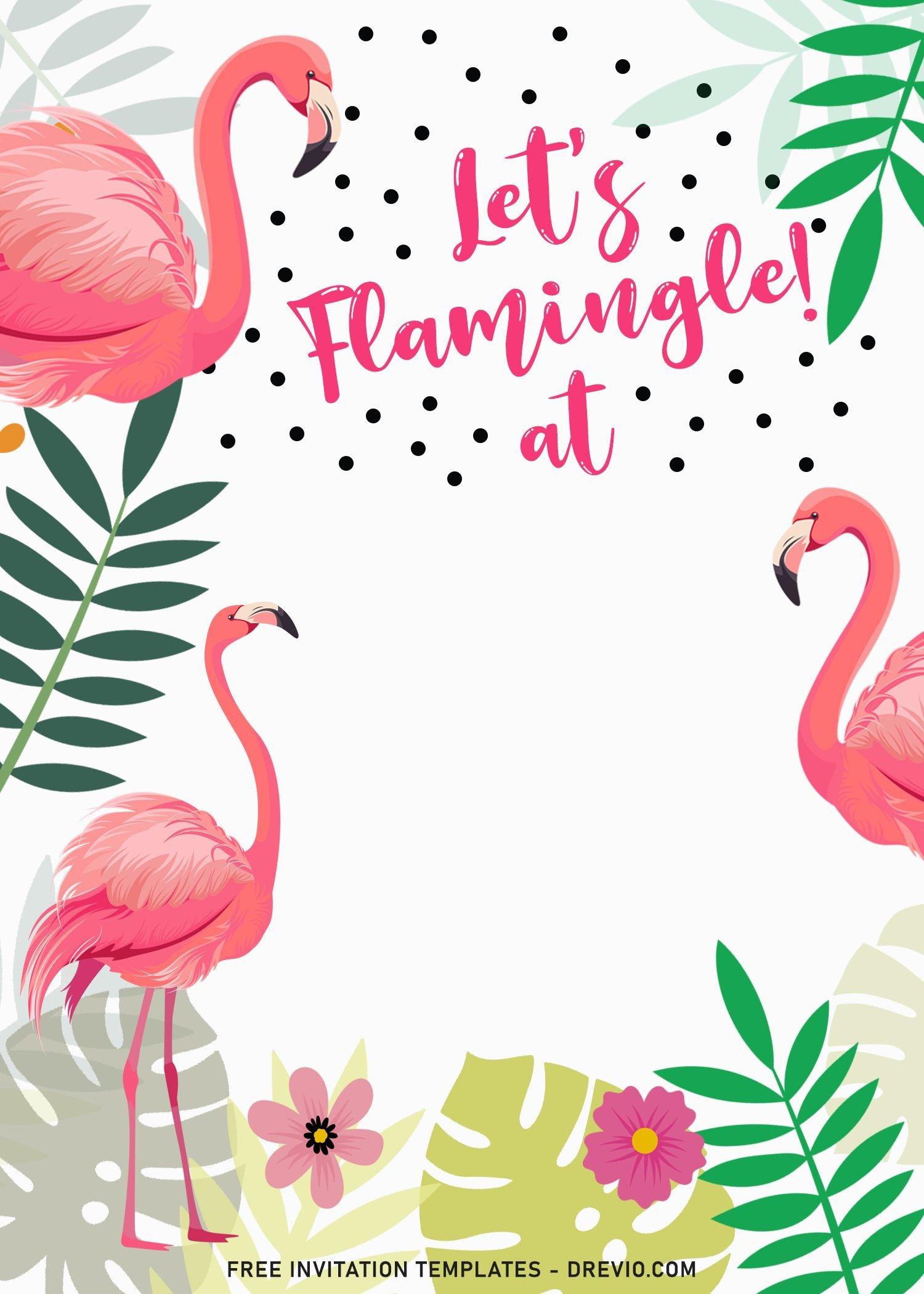 flamingle birthday invitation templates