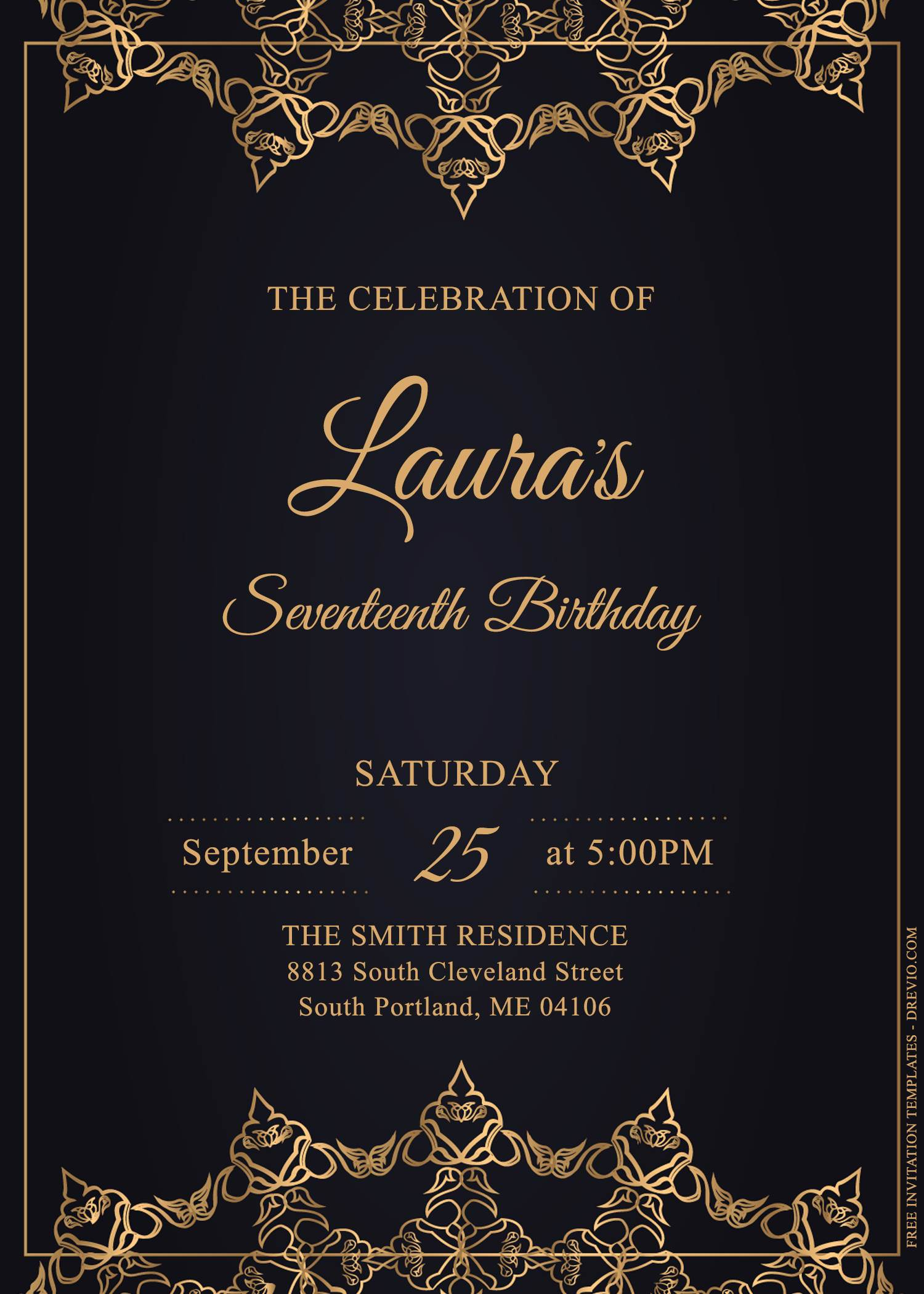 https www drevio com 11 stunning luxury gold birthday invitation templates