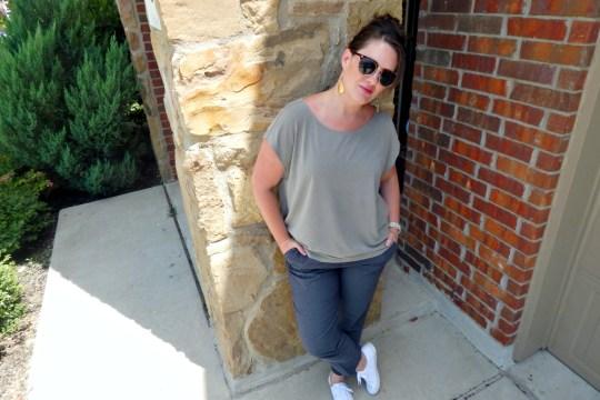 H&M White Canvas Shoes Sunglasses