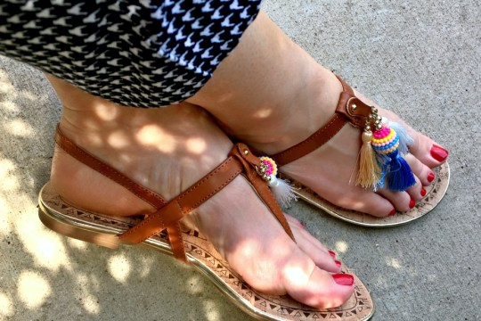 Tan Tassel Sandals by Sam & Libby for Target