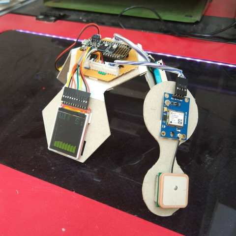 Particulate sensor in use on the laser cutter