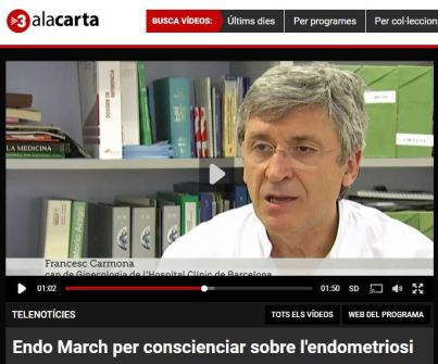 2016-03-12. TV3. Endo March para concienciar sobre la endometriosis