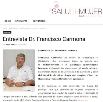 2016-06-05. TV3. Salud en mujer. Entrevista al Dr. Francisco Carmona