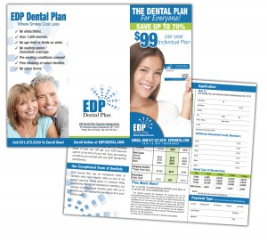 drgli edp dental brochure design print work
