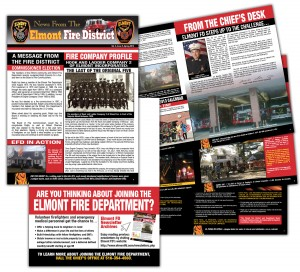 drgli elmont newsletter 5 design print work