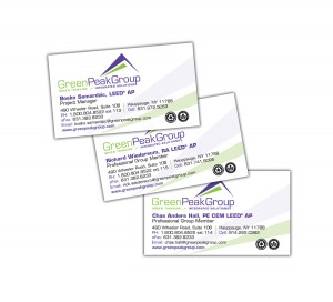 drgli green peak business cards design print work