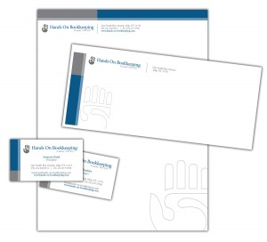 drgli hands on bookkeeping corp id design print work