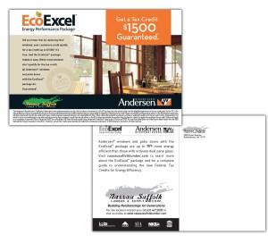 drgli nassau suffolk lumber andersen postcard design print work
