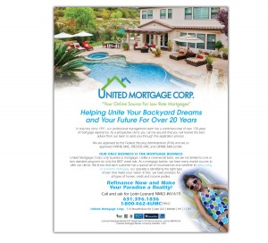 drgli united mortgage ad design print work