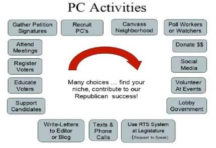 Graphic showing Precinct Committeeman activities