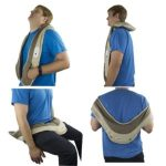 Remote controlled HealthmateForever Neck Shoulder and Back Massager with Heat P016