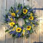 Spring Sunflower Wreath Dried Floral Shop