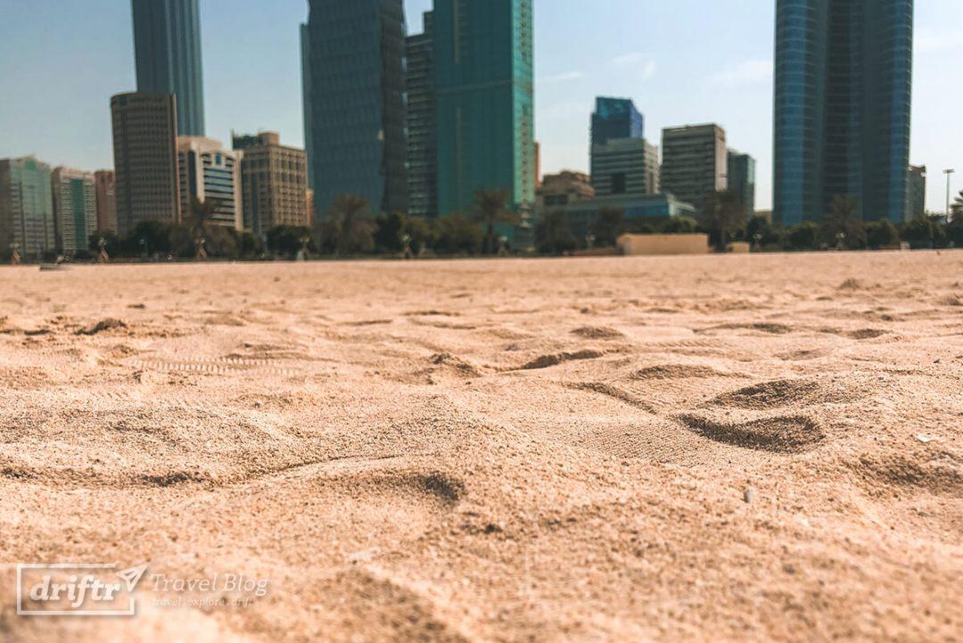 Sandstrand des Abu Dhabi Beach