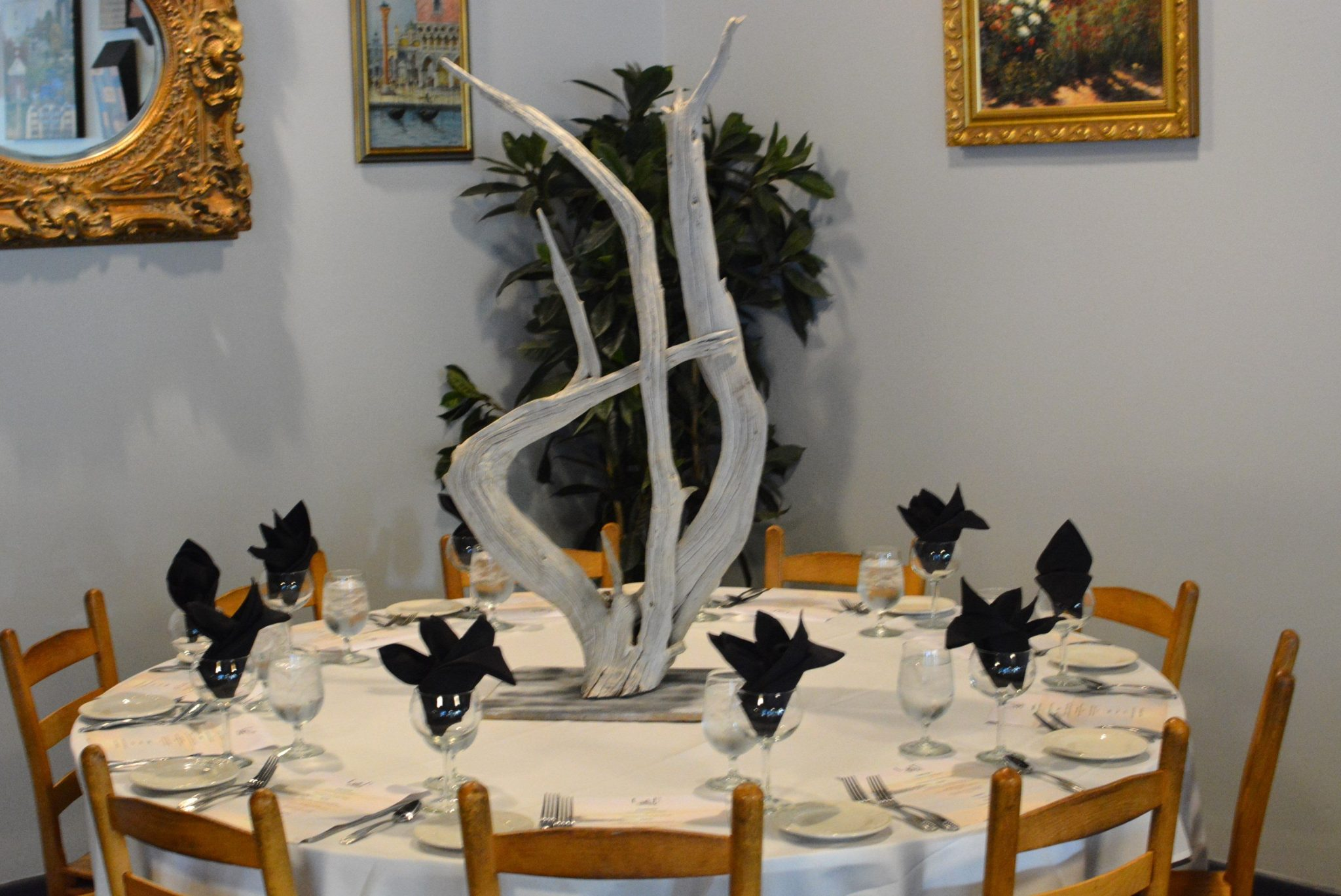 Driftwood  center pieces for a special wedding