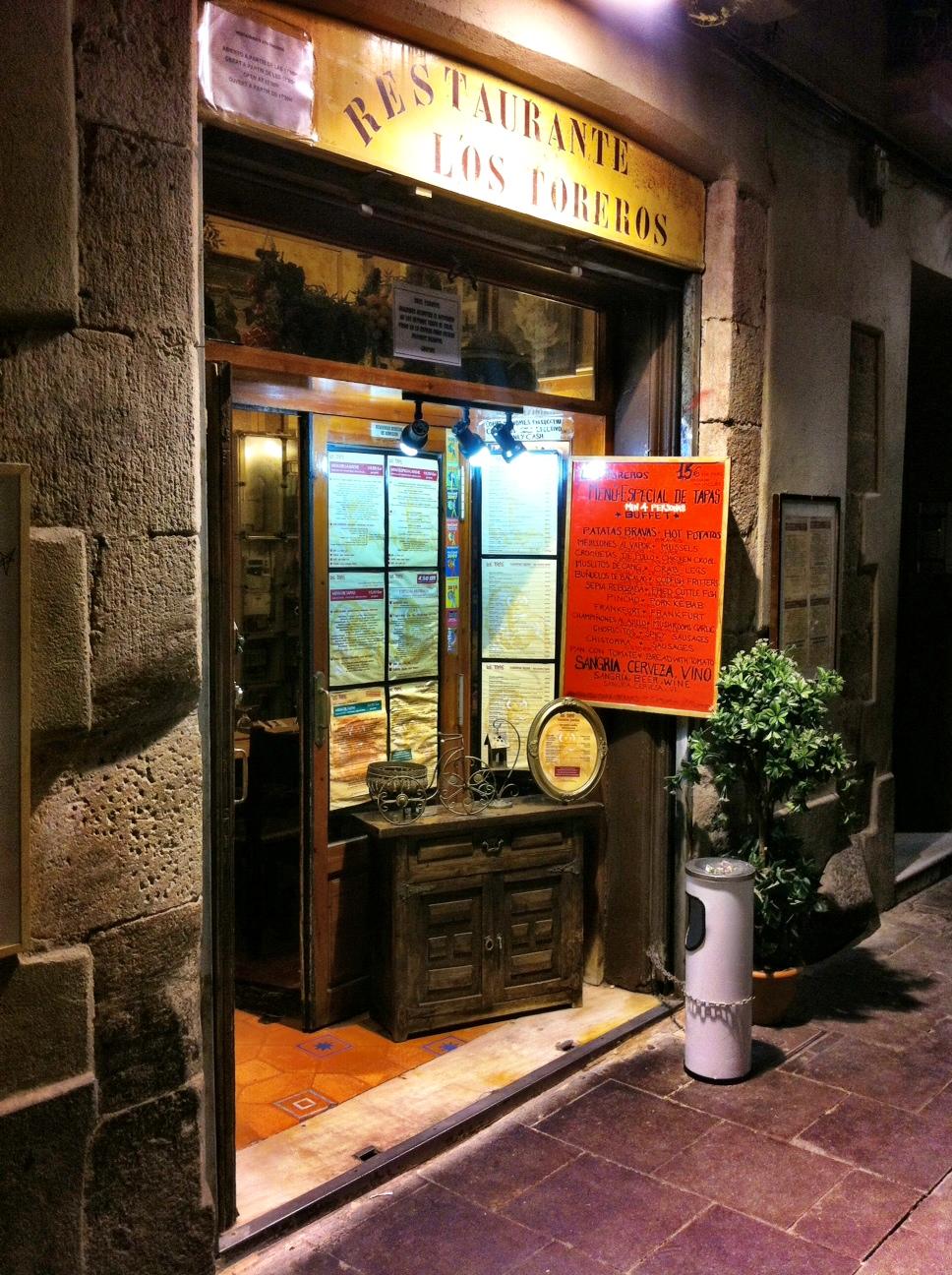 los toreros catalan tapas restauran in barcelona review