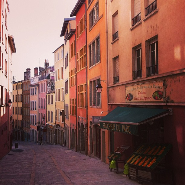 colourful, windy streets of Lyon
