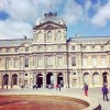 The outside of Le Louvre art gallery in Paris