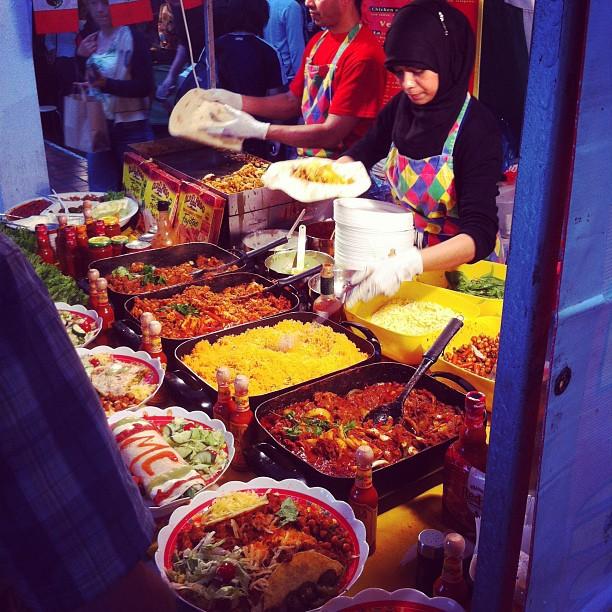 World Food Market in Shoreditch, London