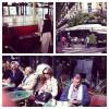 the terrace of cafe de Flore in Paris - Paris' oldest coffee house