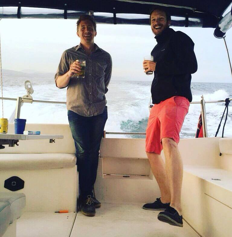 """Me and Michael as Captain Noah hits """"hold-on-to-your-sh*t"""" speed!"""