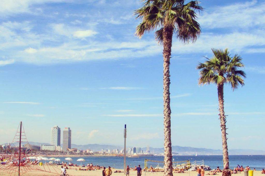 Barcelona beach.