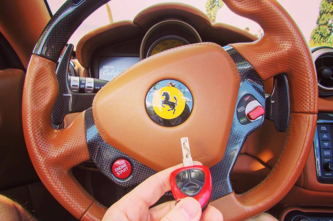 ferrari california t red in Barcelona key