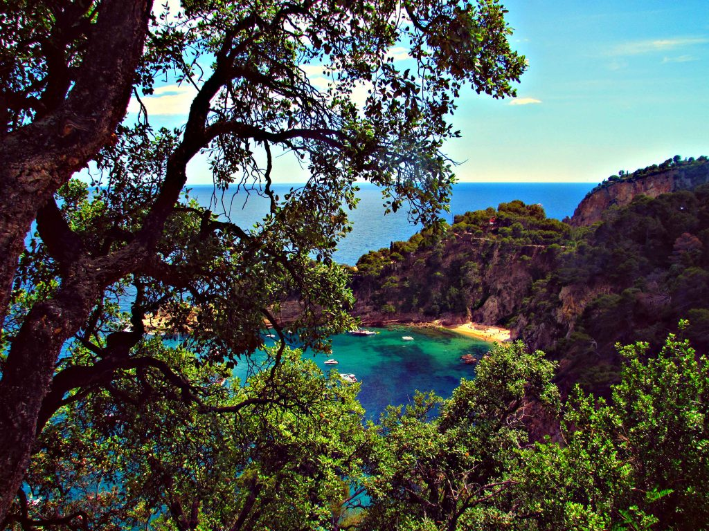 Little secret beach coves along the Costa Brava