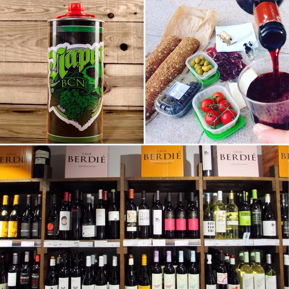 Stock up on craft beer at NaparBCN and Zythos Beer or cava at Jovani & Vins