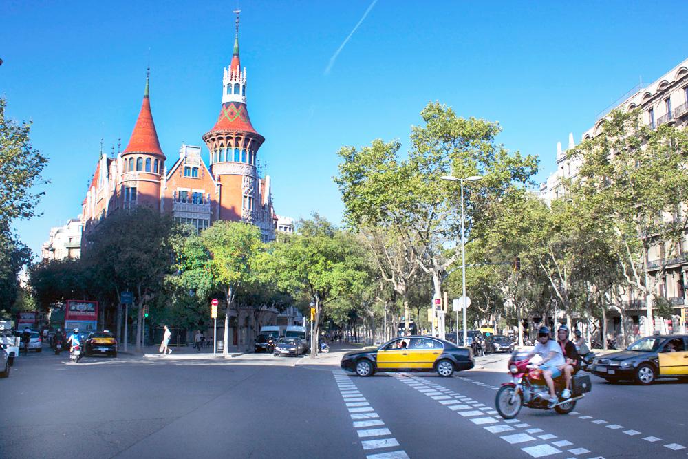 Casa de les Punxes Modernista building in Barcelona