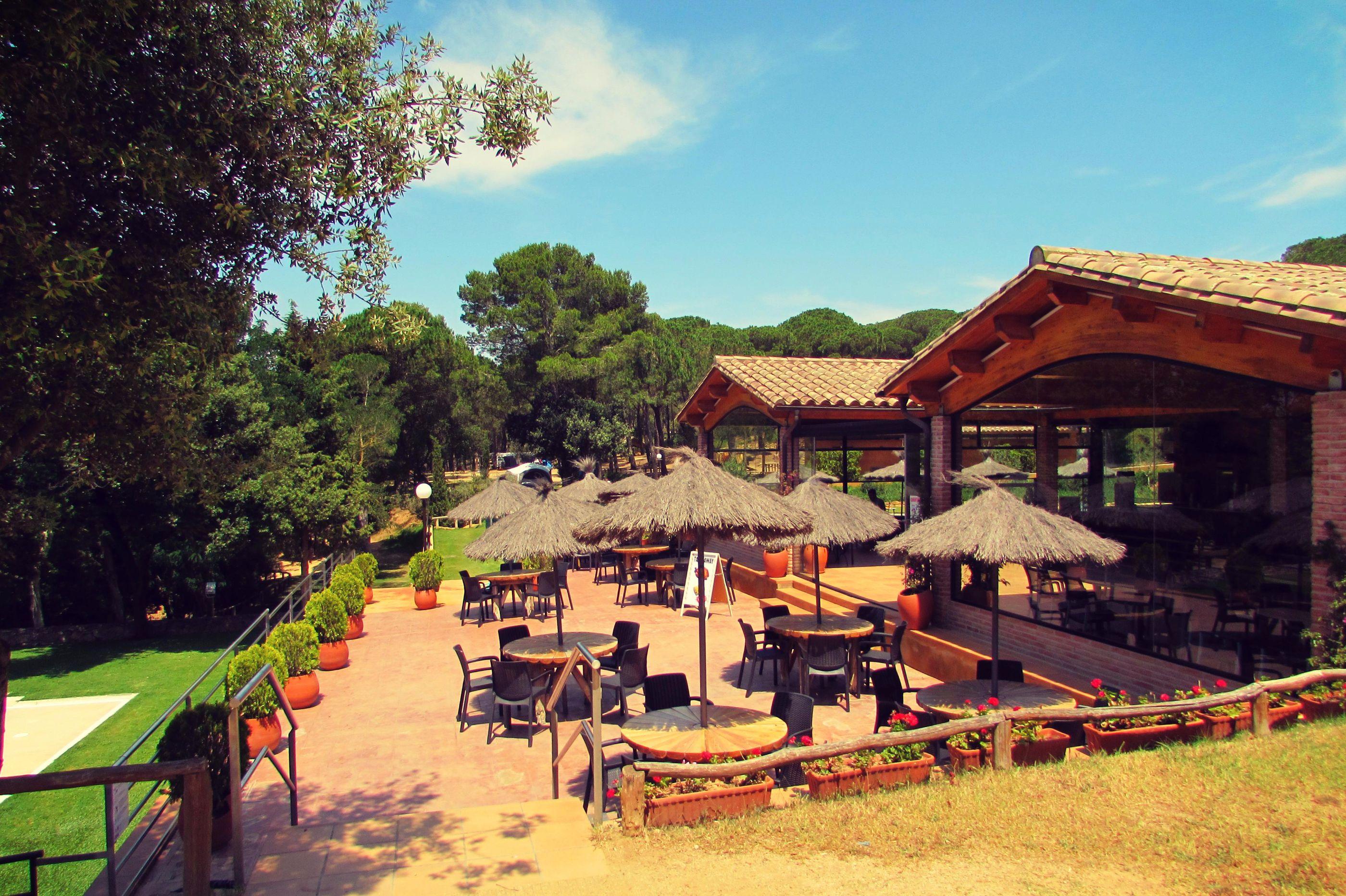Camping in Begur Campsite Restaurant