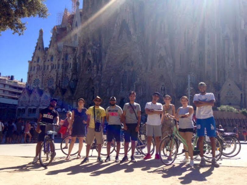 Free Cycling Tour Barcelona Sagrada Familia Original Europe Tours