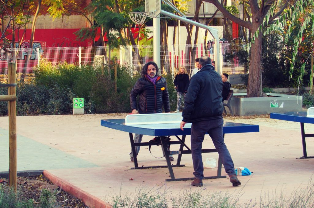 playing-ping-pong-in-one-of-barcelonas-public-parks