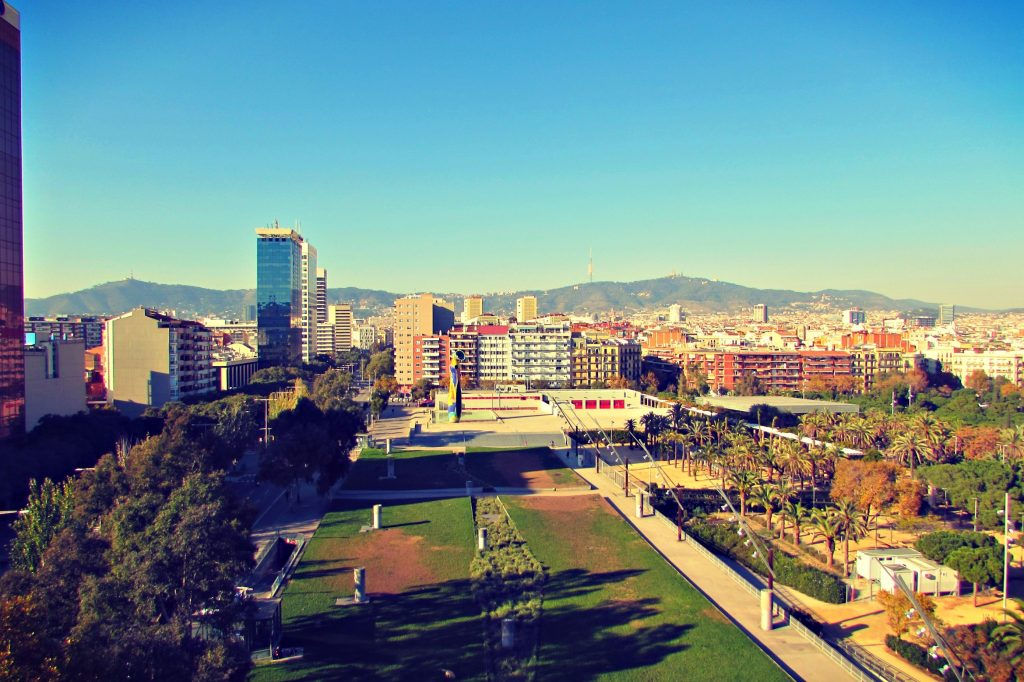 Rooftop Views from Las Arenas Shopping Mall in Barcelona