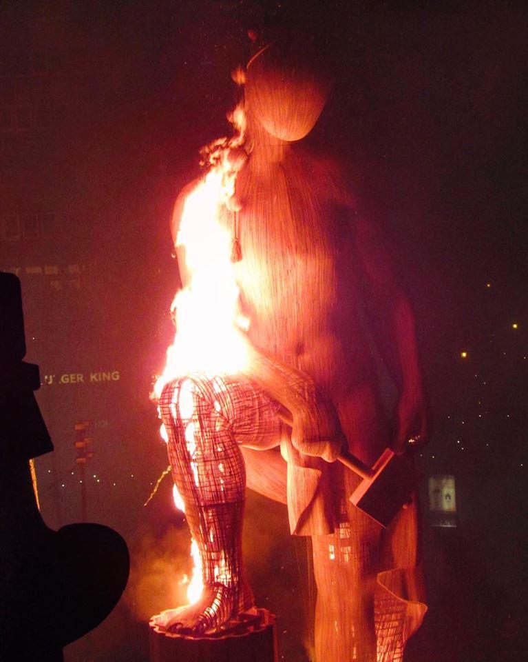 Artiasan - the giant ninot statue at Las Fallas 2016