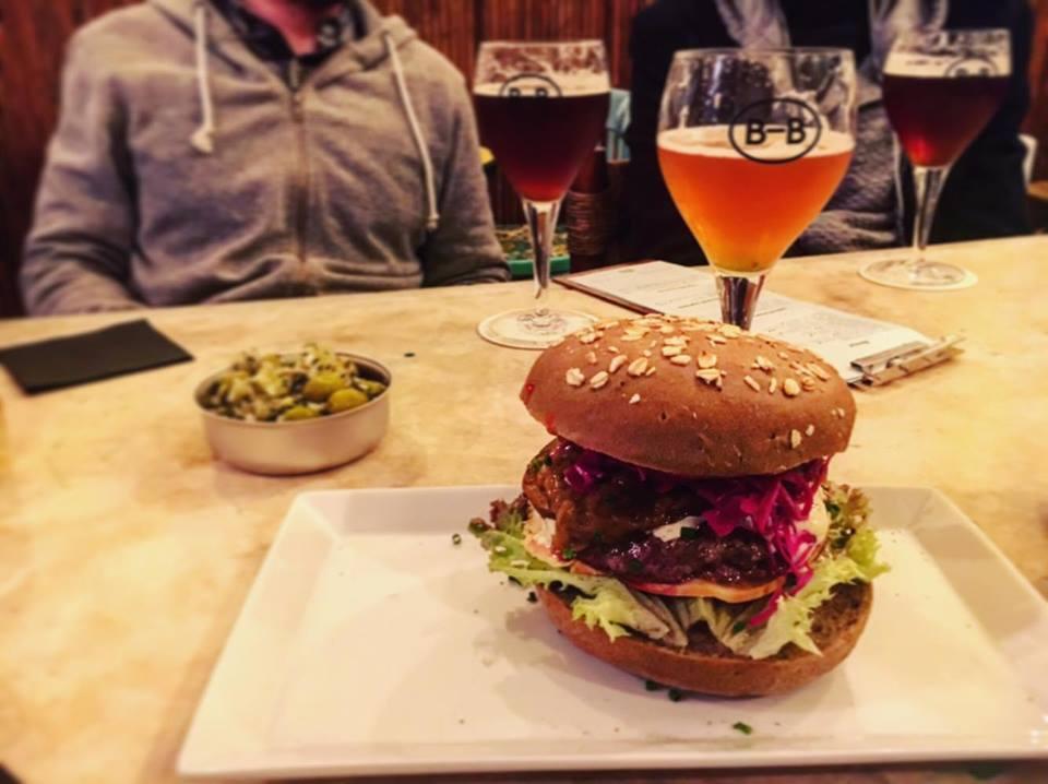 Moreneta Veal Burger at Barna-Brew, Sant Antoni, Barcelona Brewpub