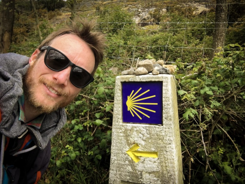 Ben Holbrook Travel Writer/Blogger/Photographer Hiking the Camino de Santiago de Compostela in Galicia Northern Spain with TraveltheWay.com
