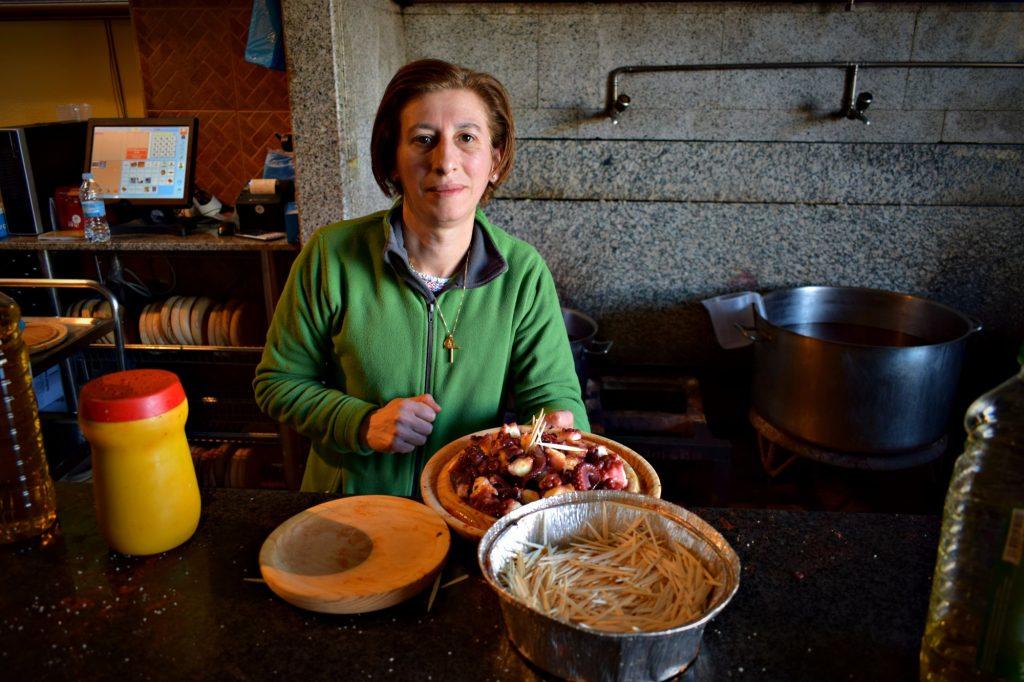 Pulperia Ezequiel in Melide - the best pulpo on the Camino de Santiago