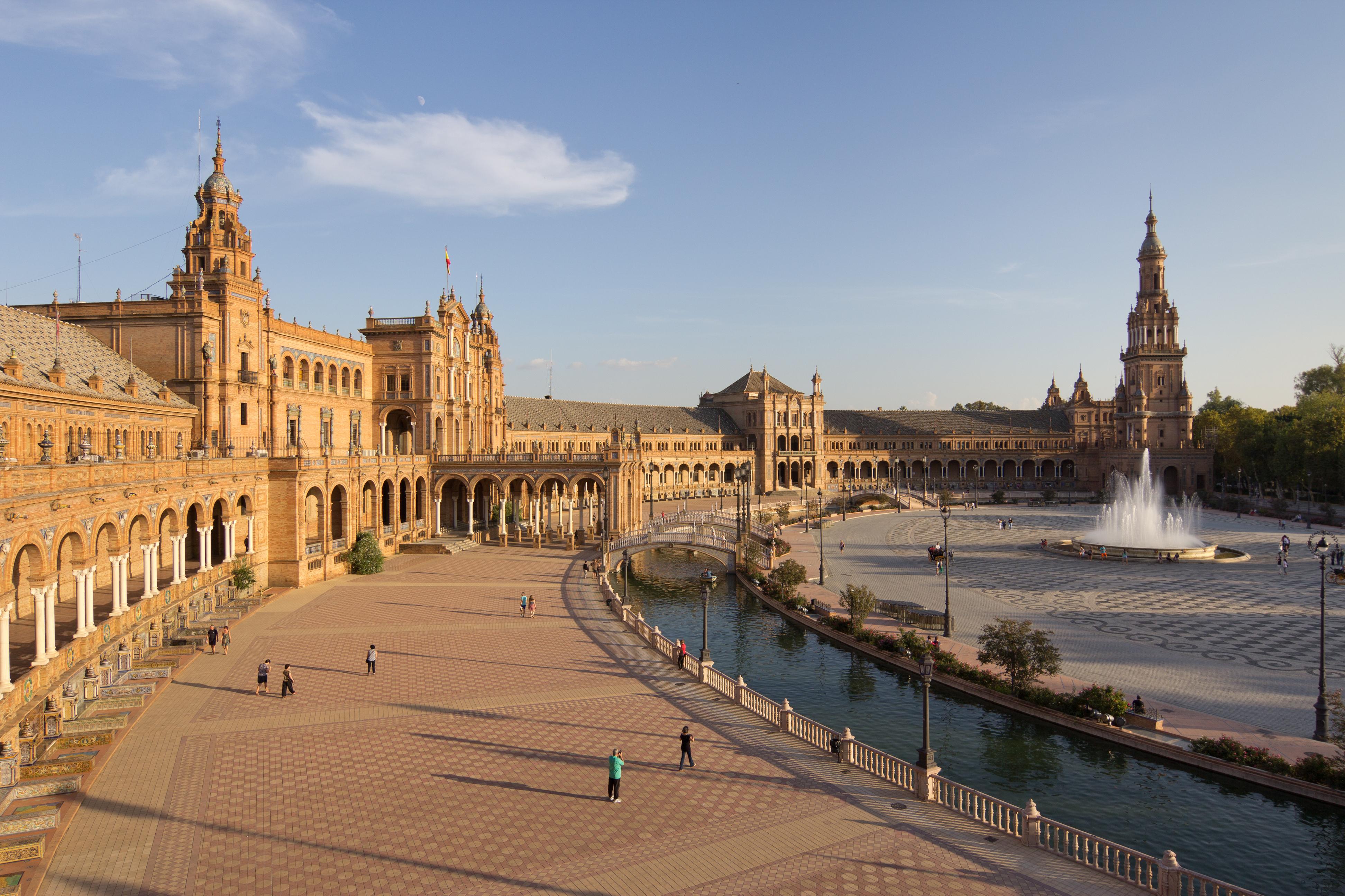 Plaza de España, Seville, Andalusia, Southern Spain
