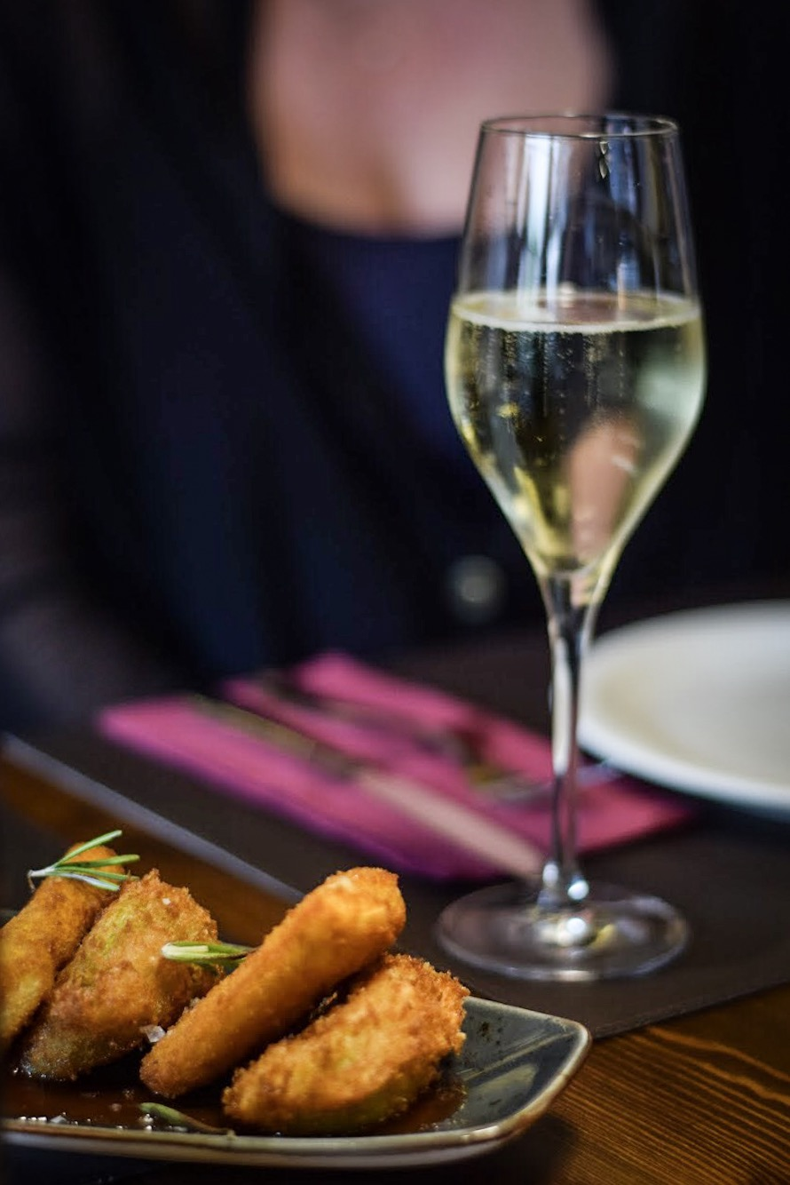 Catalan cava and Ferran Adria-inspired grilled halloumi cheese tapas - Quality Spanish meat - Barcelona Food Experiences Food Tour