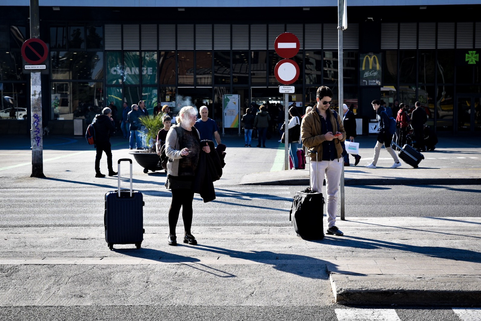 Barcelona Street Photography Project at Sants Estacio Train Station by Ben Holbrook