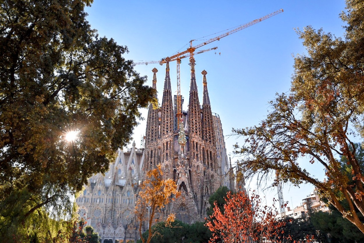 La Sagrada Familia Church in Barcelona at Christmas