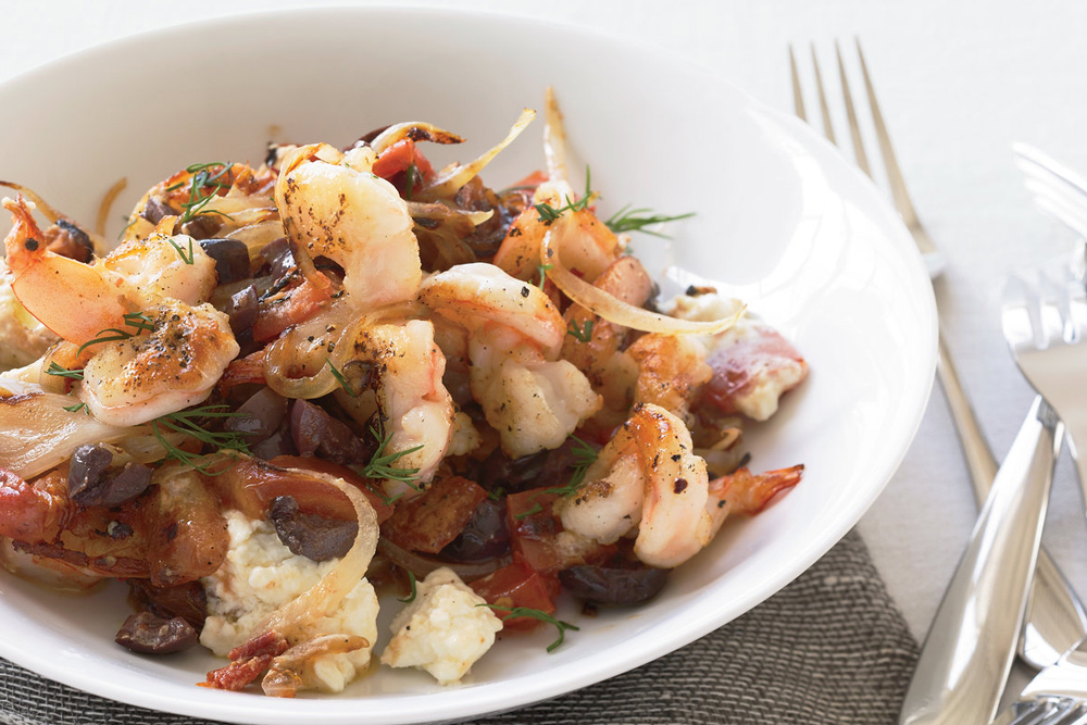 Greek saganaki-shrimp recipe