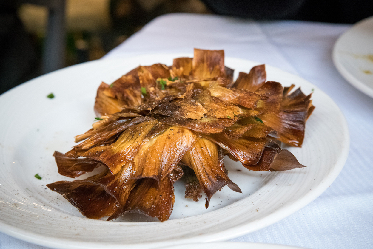 The best Carciofi Alla Giudea (Jewish artichokes) in Rome - by Ben Holbrook