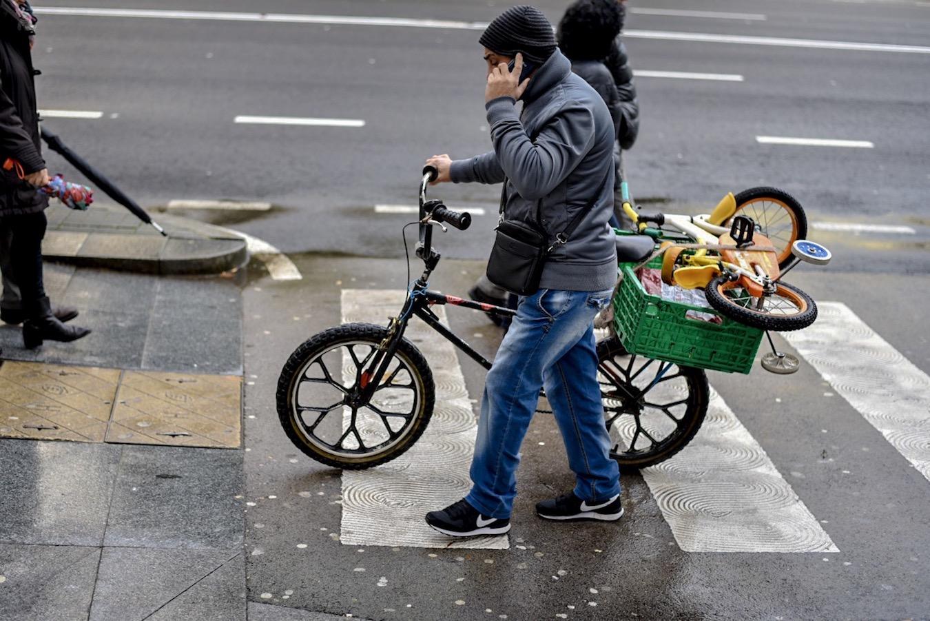 Street life in Santander, northern Spain.
