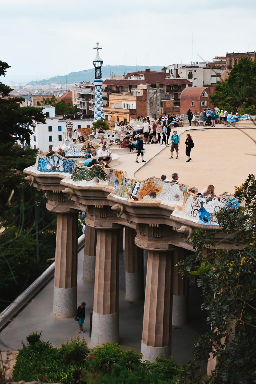 Park Guell Barcelona - by Ben Holbrook from Driftwood Journals