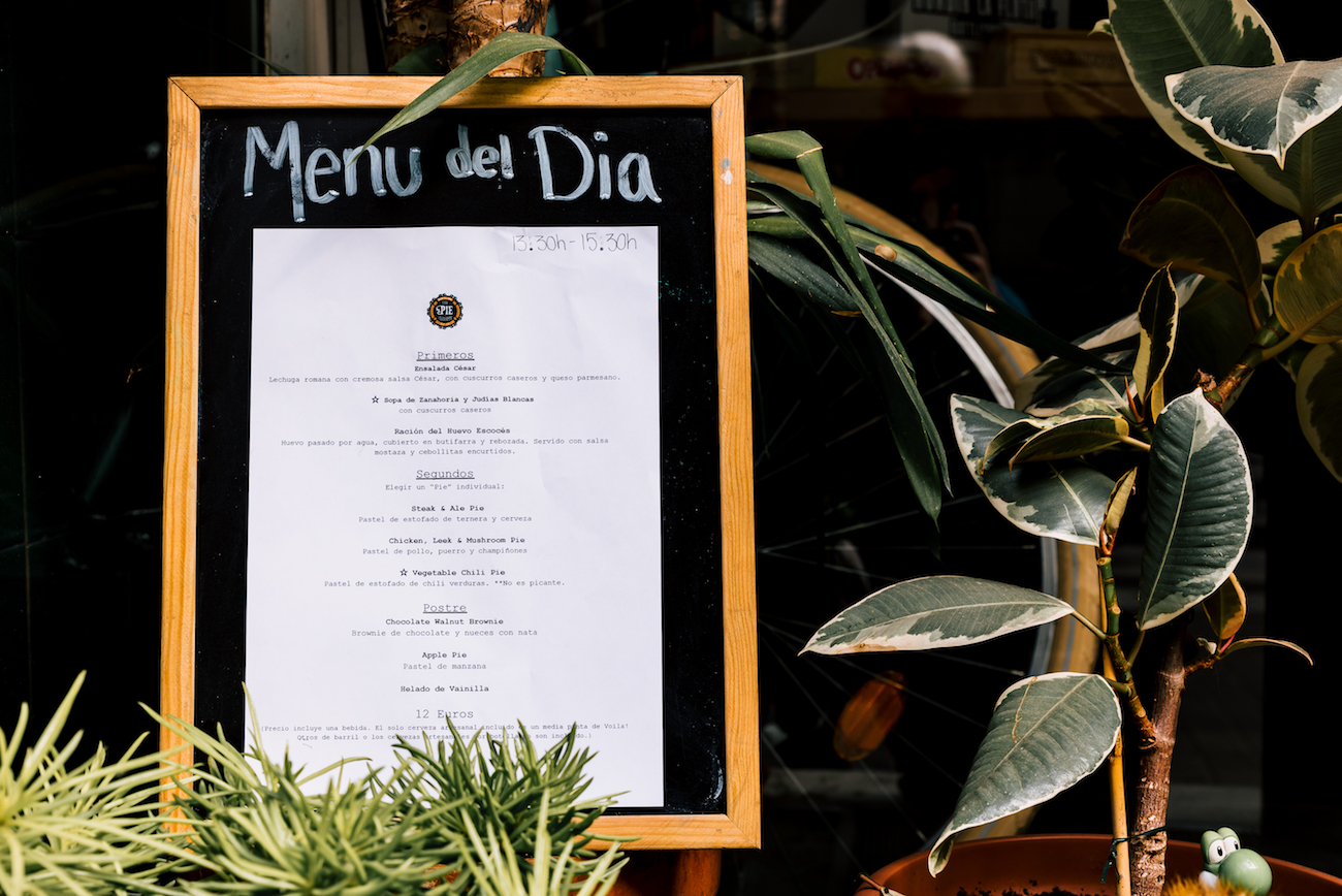 The Pie Shoppe, Gracia, Barcelona - Menu del Dia