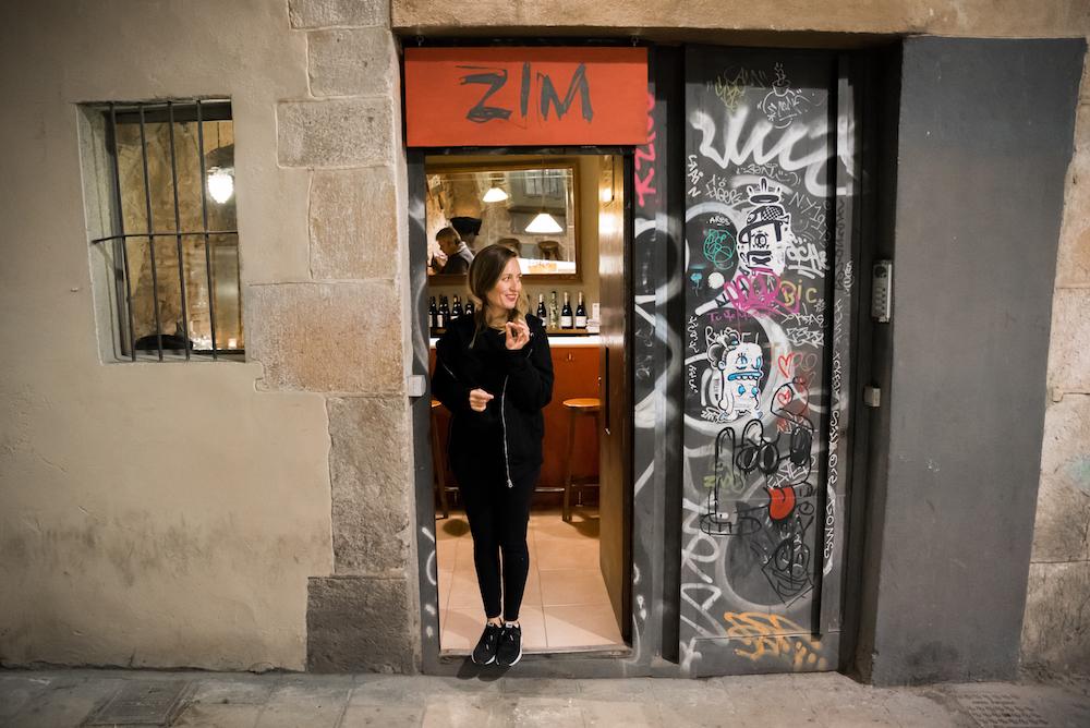 Bar Zim Wine Bar in Barcelona's Gothic Quarter.