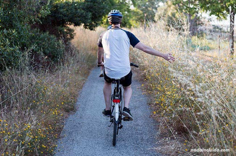 Cycling the vias verdes in Chipiona,Cádiz (Andalucia), Southern Spain