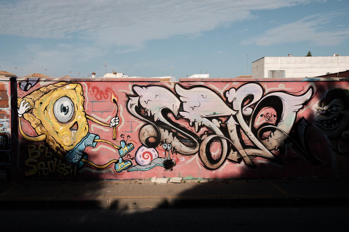 Street art in Chipiona- by Ben Holbrook from Driftwoodjournals.com