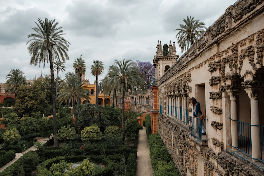 the Gardens Inside Real Alcázar (Royal Palace), Seville - by Ben Holbrook from DriftwoodJournals.com
